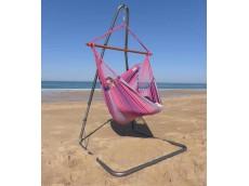 Chaise hamac fuschia avec support