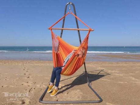 Support hamac-chaise Soledad + hamac-chaise Mariposita feu