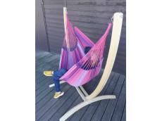 Hamac chaise avec support fuschia