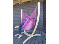 Hamac chaise avec support rose