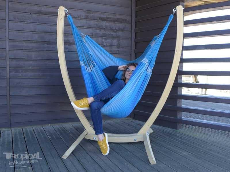 Hamac chaise avec support. Mariposita 3 Azules. Tropical