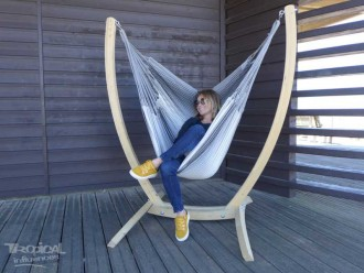 Hamac chaise avec support Paquito 3 Gris