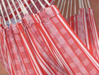 Chaise hamac CARIBENA poligono rouge