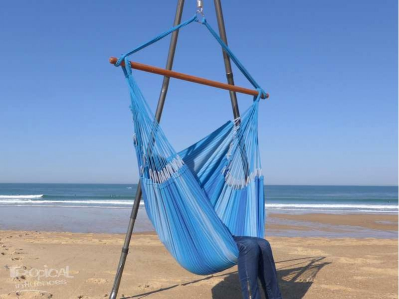 Chaise hamac 3 bleus