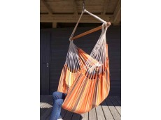 Chaise hamac  marron orange