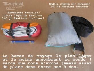 hamac voyage vert