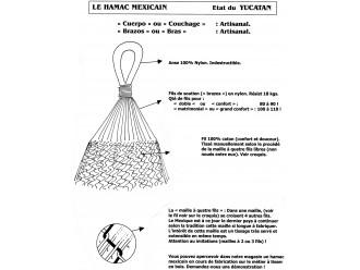 Hamac mexicain XL multicolor 61B