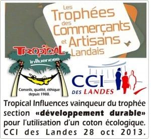 Tropical hamac - trophée du développement durable