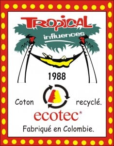 Tropical Influences coton recyclé