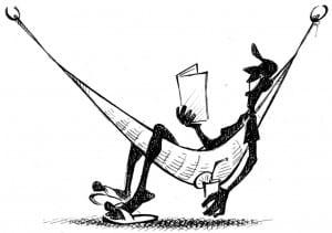 Position assise dans un hamac