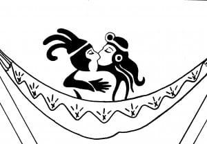baiser maya dans un hamac