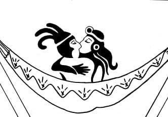 Hamac baiser Maya