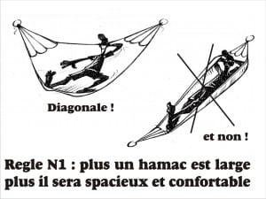 Hamac en diagonale