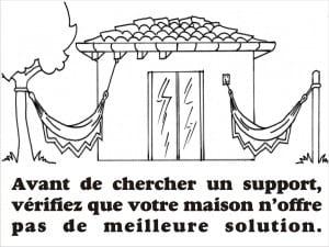 support hamac maison