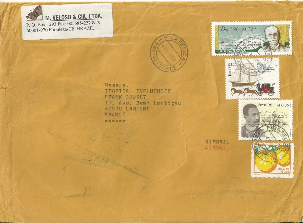 cartes visite courrier