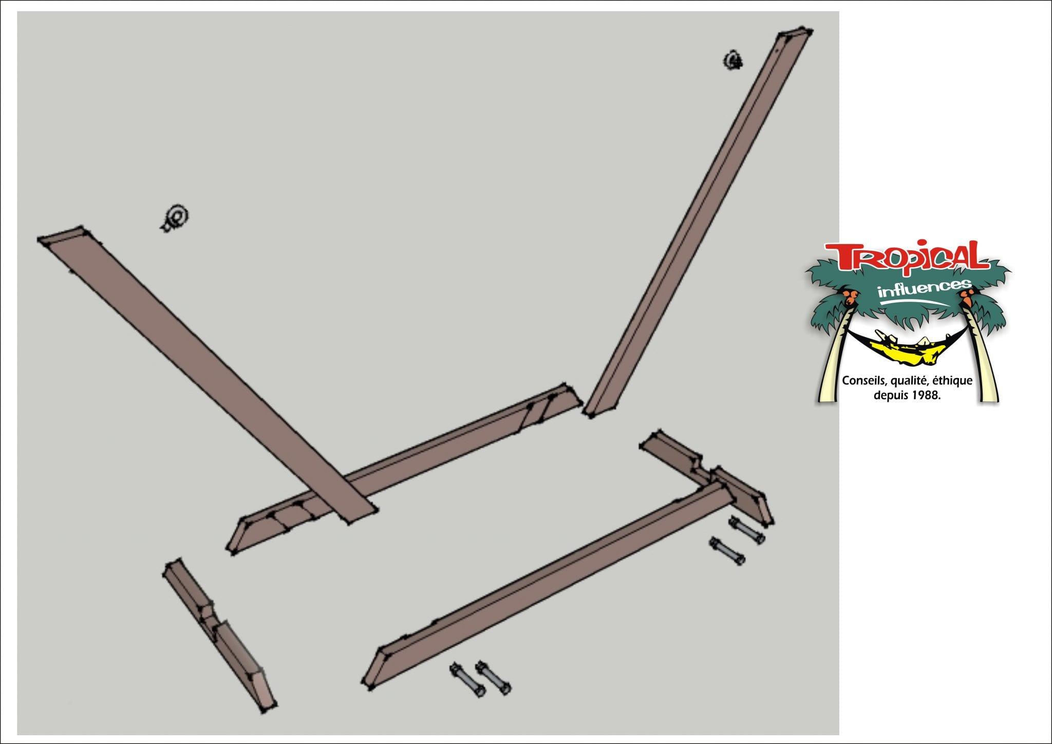 comment fabriquer un support de hamac soi m me tropical. Black Bedroom Furniture Sets. Home Design Ideas