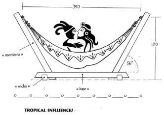 support de hamac tropical influences