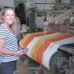 Aline Fombaron métier à tisser