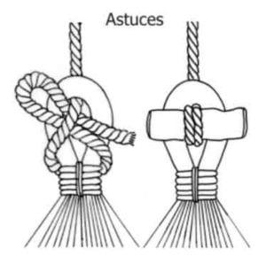 Hamac nœud mexicain et astuce