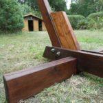 support de hamac en bois fendu